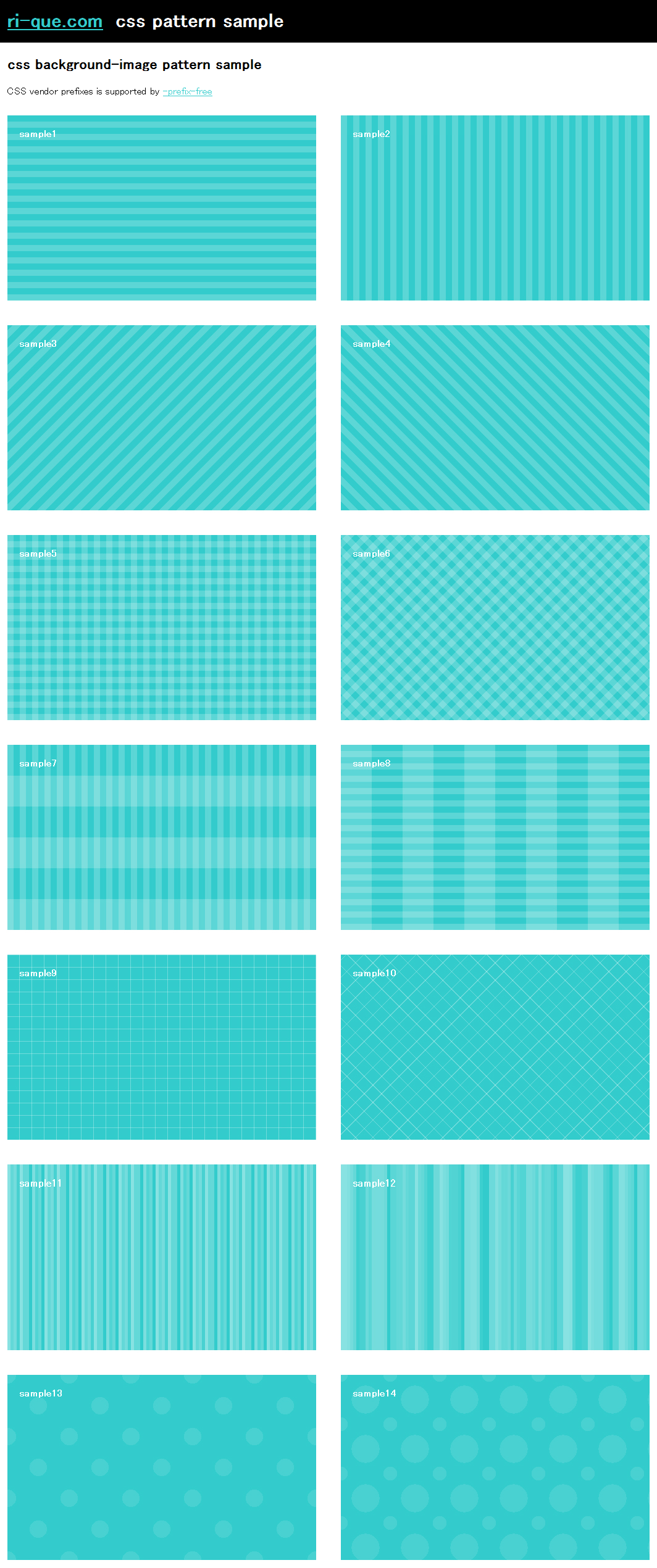 css-pattern-sample